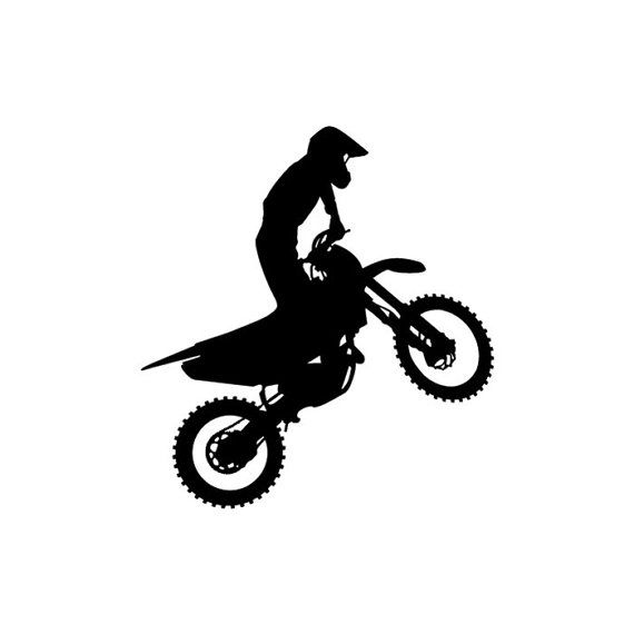 Motocross Dirt Bike Stunt Rider Vinyl Window by BucksCountyButtons