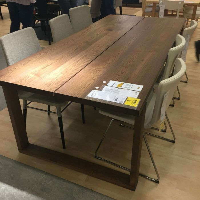 Finding Perfect Match Solid Wood Dining Table Ikea Dining Ikea Dinning Room Dining Room Tables Ikea