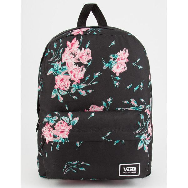 Vans Realm Backpack (52 CAD) ❤ liked on Polyvore featuring bags, backpacks, day pack backpack, padded bag, rucksack bags, vans rucksack and polyester backpack