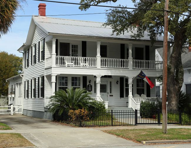 "The house on 114 Moore Street was used for an interior scene in the movie ""The Secret Life of Bees""  Southport, NC"