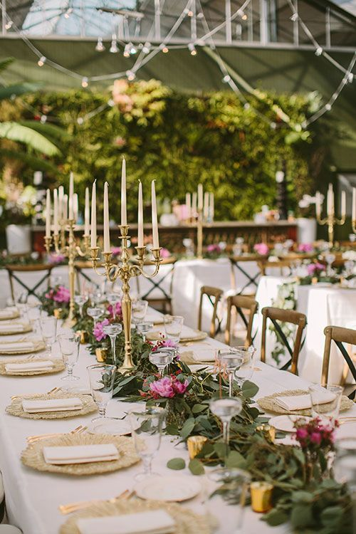 A Flower Filled Spring Wedding In Michigan Candelabras