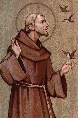 Saint François D'Assise. Nominis - Saints, Fêtes et Prénoms du 4 octobre