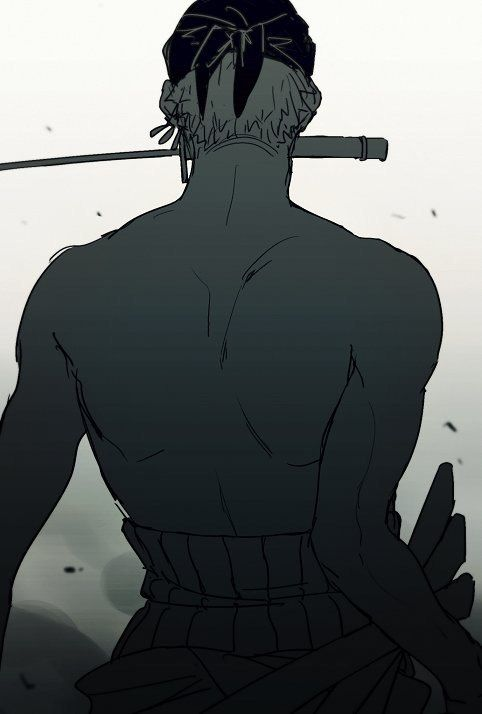 First Mate of the Straw-Hat Pirates, Right Hand of the King of the Pirates, Strongest Swordsmen in the World: Roronoa Zoro.