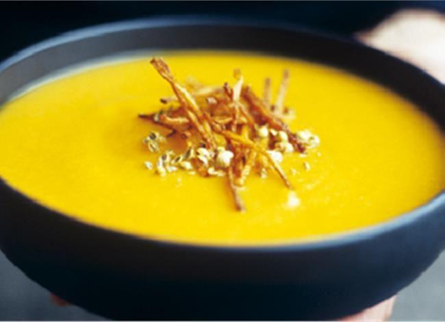 Κίτρινη σούπα με κολοκύθα