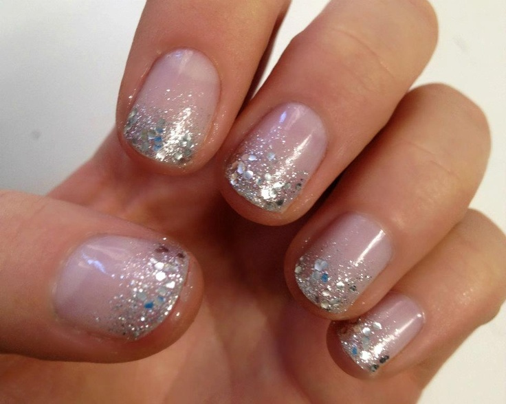 Nails With Glitter Tips