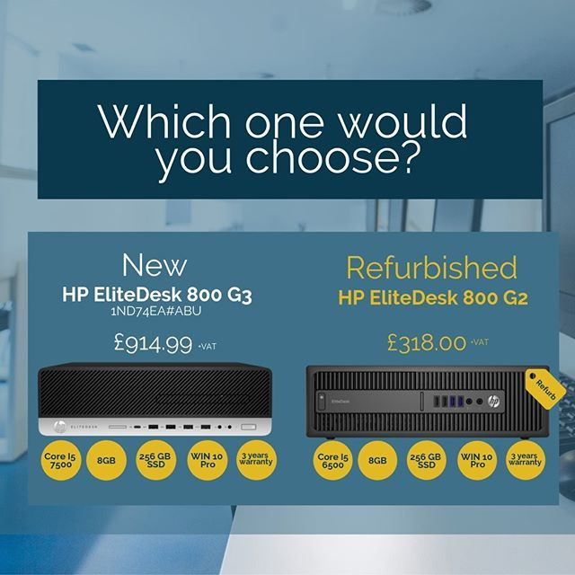 New Vs Refurbished Which One Of These Would You Choose Check Out Chris Jackson S Post Refurbished Technology Itsolutions It You Choose Jackson Pyramids