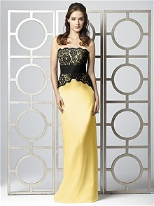 Dessy Collection Style 2849 Yellow Bridesmaid Dress