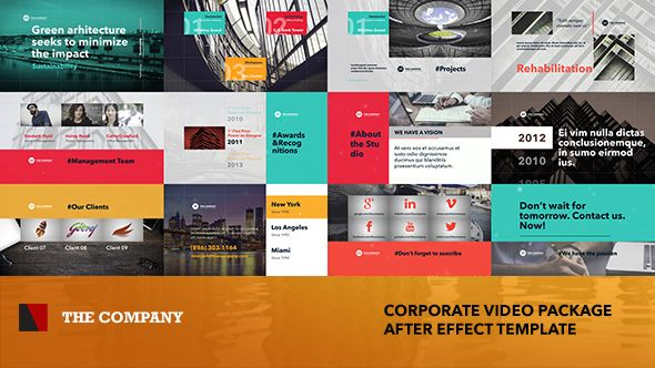 the company - corporate video package, Powerpoint templates