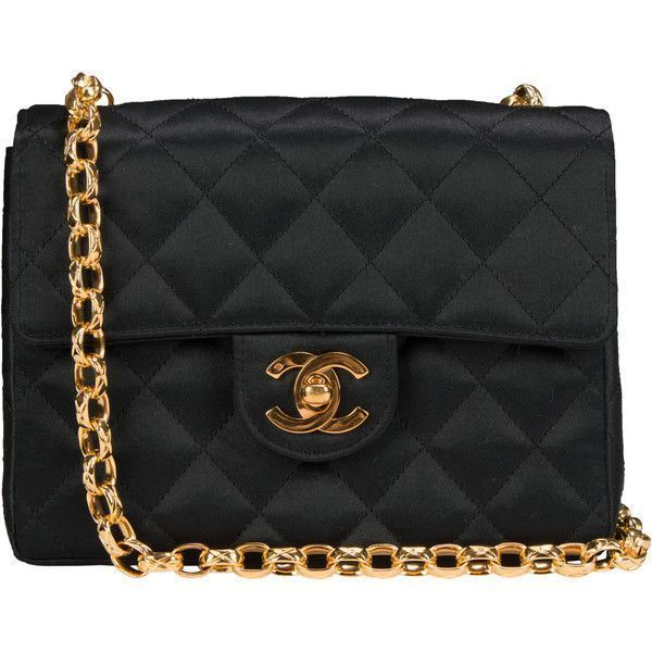 2600b1e0b Pre-Owned Chanel Vintage Satin Mini Flap Bag ($1,250) ❤ liked on Polyvore