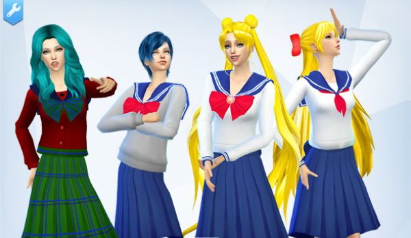 School Uniforms at SilverMoon Sims via Sims 4 Updates