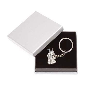 Golf Gifts Pewter Golf Bag Keyring in a Gift Box at golfessentials.in