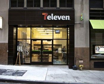 """The new logo features the """"7"""" of the old 7-Eleven logo paired with a lowercase """"eleven"""" in white, on a black background for store fronts,"""