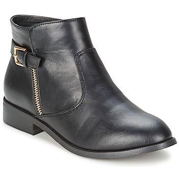 Voilà les chaussures que l'on cherche pour notre quotidien ! Des boots sobres et faciles à porter mais pour autant féminines et branchées. Typiquement le genre de modèle que l'on ne quitte pas de l'année. Bien joué Moony Mood. - Couleur : Noir - Chaussures Femme 0,00 €