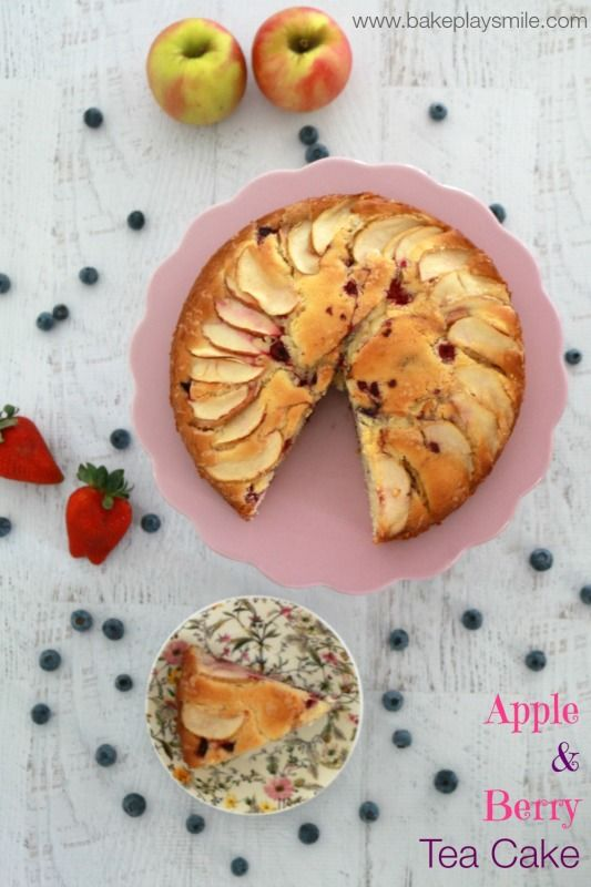 Apple & Berry Tea Cake - Bake Play Smile