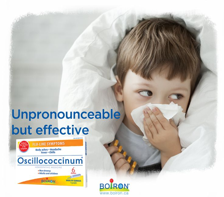 Oscillococcinum reduces the duration of flu-like symptoms and relieves body aches, headache, fever and chills.