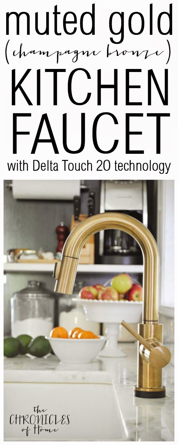25 best kitchen faucets ideas on pinterest kitchen sink faucets brushed gold kitchen faucet with touch on and off feature