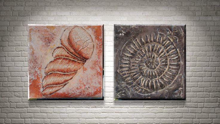 Muschel Duo - Original Acrylmalerei von FarbenfrohGalerie auf Etsy #muschel #amöbe #mixedmedia #sea #shell #amoeba #art #kunst #acryl #painting