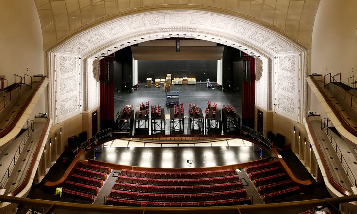 "Northrop Auditorium's intricately detailed proscenium arch is all that remains of the original interior. ""The whole design revolved around saving the arch,"" ..."