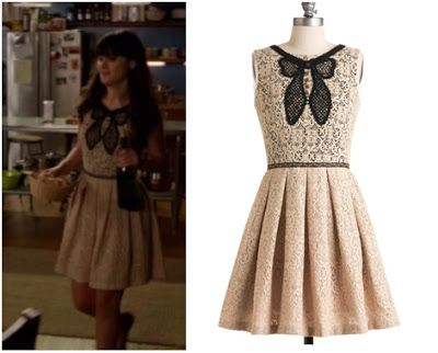 The moment I saw this dress I loved  it.  Its a cream lace colour with a black lace bow in the front and has the fit and flare style.  Jess was wearing this on last week's episode of New Girl! … Continue reading →