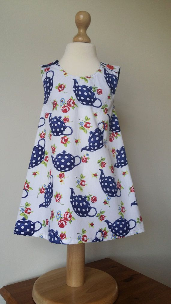 Check out this item in my Etsy shop https://www.etsy.com/uk/listing/467634975/tea-party-dress-tea-pot-dress-alice-in