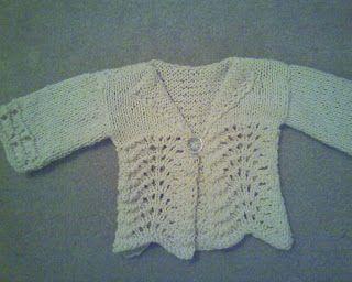 Free Knitting Pattern - Baby Sweaters: Victoria Jane - Feather & Fan Baby Cardi