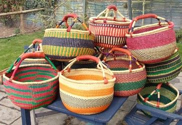 Bolga baskets eclectic baskets