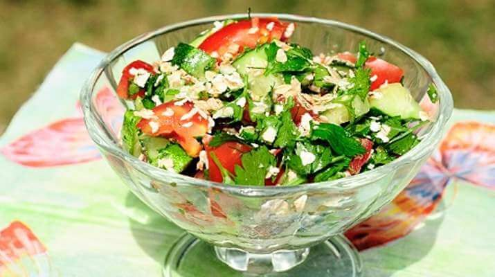 Фитнес салат «Геркулес»