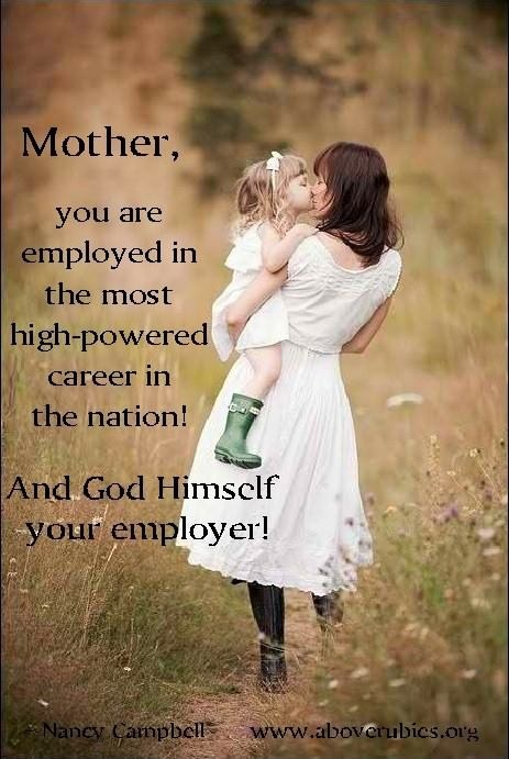 God is your employer. Great reminder.
