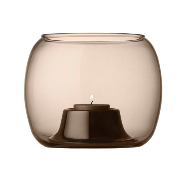 Kaasa tealight holder, sand, by Iittala.