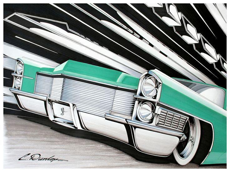Hot Rod Art 1965 Cadillac Art - Design✏ Pinterest