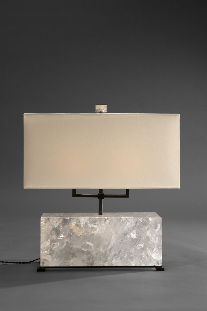 Nuvem - Rock crystal table lamp from Pinto Paris, Rio collection