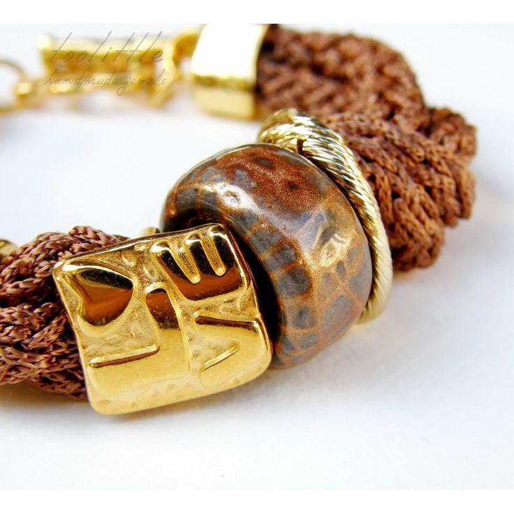 Chocolat Satin Rope Love Bracelet #rope jewelry