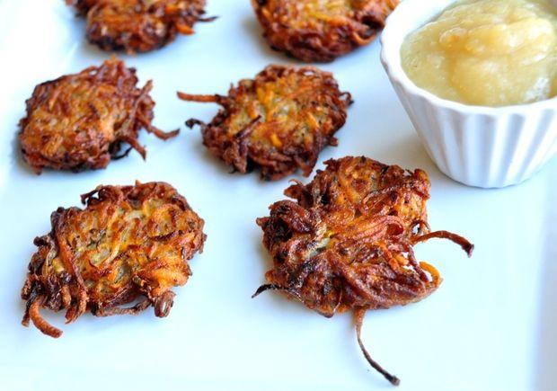 Healthy Hanukkah Recipe: Vegan Sweet Potato Latkes | Healthy Recipes | Washingtonian