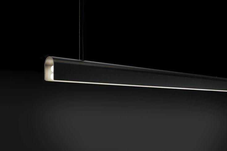 Linear light fixture / suspended / fluorescent lights - U-LIGHT 900 - tossB