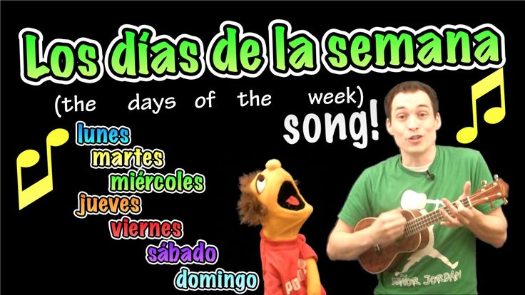 This video is part of a series on los días de la semana (Days of the week) in Spanish. Señor Jordan tries to remember the days of the week and Lucas has to h...