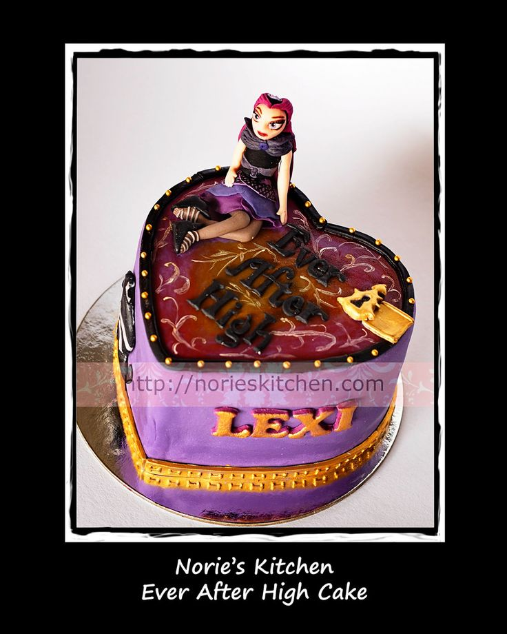 ever after high cakes   This is based on the Ever After High line of dolls. I hand-painted the ...
