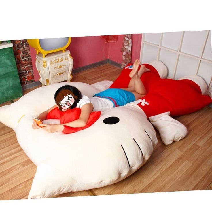 Supersize Hello Kitty Pillow Bed Im Done If I Have A Girl She WILL One Of These Possible Diy Project For The Summer