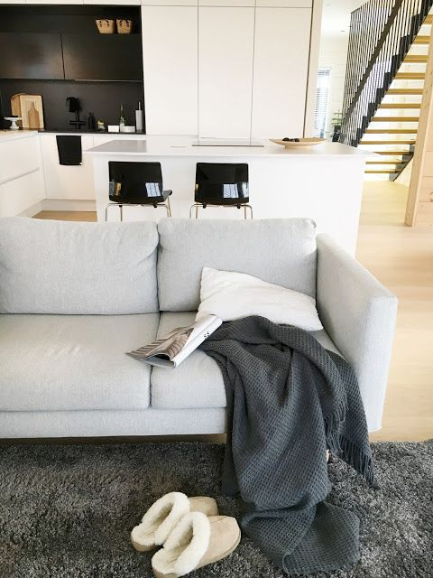 Talo Markki - open living room / kitchen