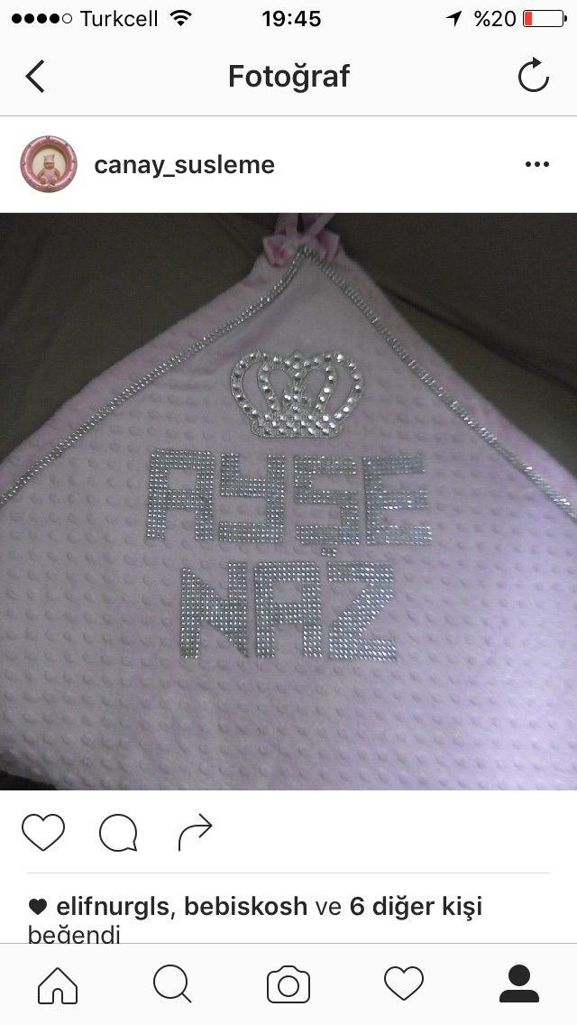 Kız bebek battaniyesi yazılı ❤