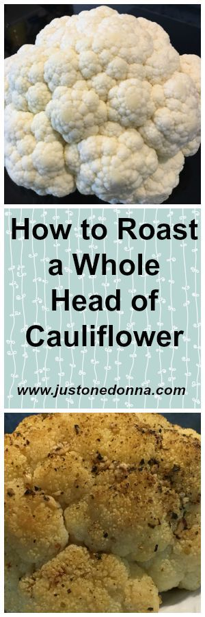 Roast a whole head of cauliflower for unbelievable flavor. | Roasted Cauliflower with Garlic and Herbs