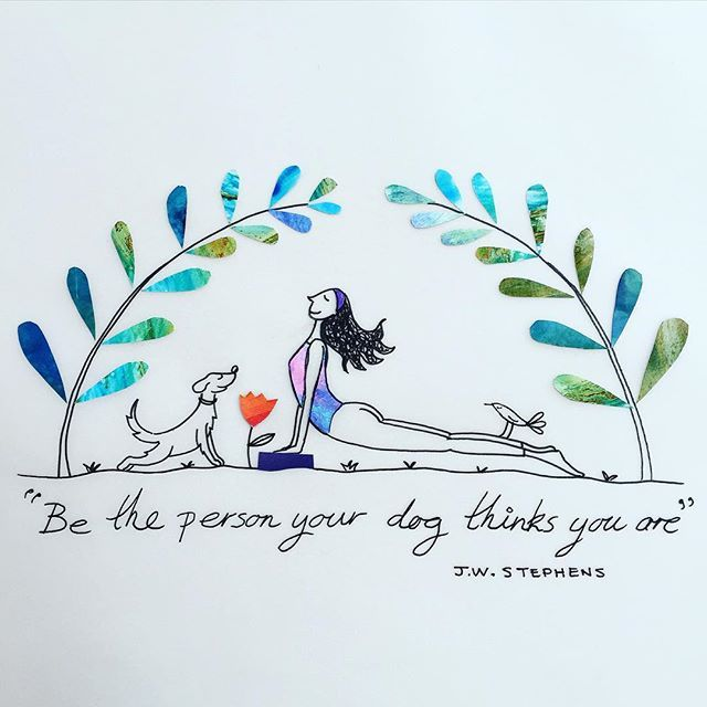 Yoga practice! #drawing #illustration #yoga #dogs #sketchbook #quoteoftheday…