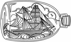 Ship in a Bottle | Urban Threads: Unique and Awesome Embroidery Designs