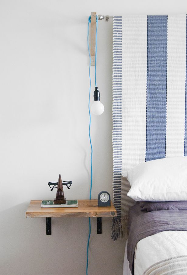Diy Floating Shelf Nightstand Diy Pinterest Curtain