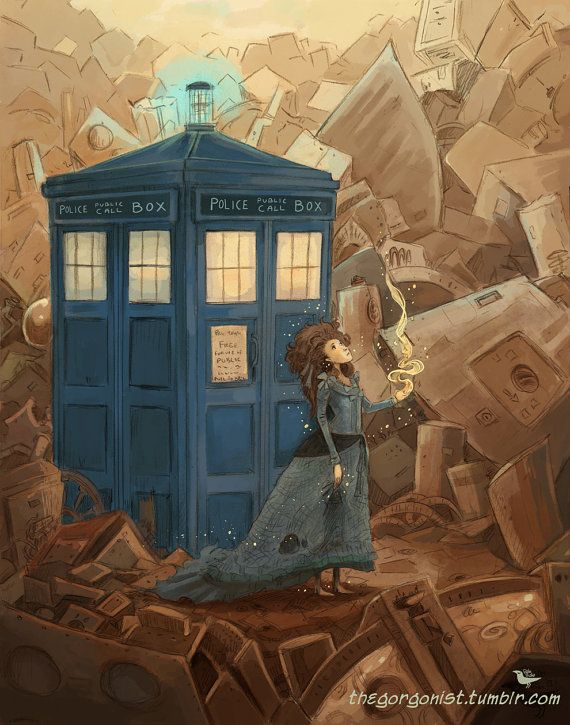 Loved this episode and meeting Sexy (the TARDIS). Beautiful piece by the same artist as the Boy who Waited & the Girl Who Waited, which I also have pinned in here. ///// The Doctor's Wife 8x10 art print by theGorgonist on Etsy