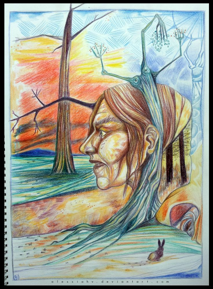 Alessia H.V., 'Soul of seasons', crayon on paper, 2015.