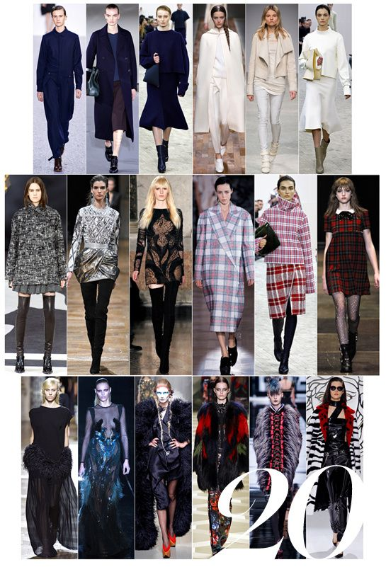 20 fashion trends for Autumn-Winter 2013-2014