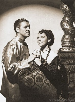 Cinema Style: The Utopian Style of Lost Horizon.  Ronald Coleman and Jane Wyatt stars of the original movie.