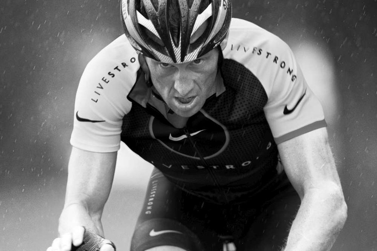 """Lance Amstrong: His motto: """"Pain is temporary, quitting is forever"""" can be applied to so many situations. He has truly been an inspiration to me. - Barbara, USA"""