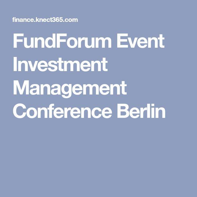 FundForum Event Investment Management Conference Berlin
