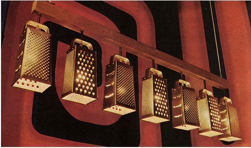 Faire Notions: Junkinology 101 - Cheese Grater Light Fixture